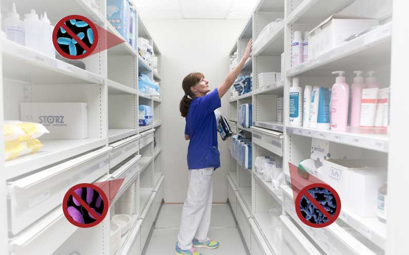 Antimicrobiele Poedercoat - Bruynzeel Storage Systems